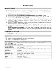 Resume For 1 Year Experienced Software Engineer Resume For Net Developer With 1 Year Experience 28 Images 1