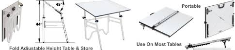 Foldable Drafting Table Portable Folding Drafting Tables The Tables Fold For Portable