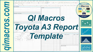 Problem Solving Template Excel Toyota A3 Report Template In Excel