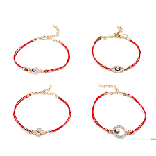 evil eye hand bracelet images Evil eye simple blue evil eye charm bracelet female red double jpg