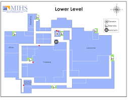 floor plan of cafeteria mihs campus maps