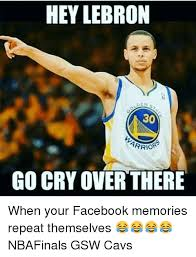 Lebron Crying Meme - hey lebron go cry over there when your facebook memories repeat