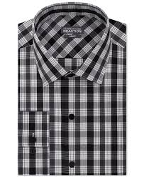 kenneth cole reaction slim fit performance night check dress shirt