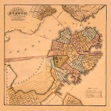 Map Of Boston by Map Of Boston 1826 Photograph By Andrew Fare