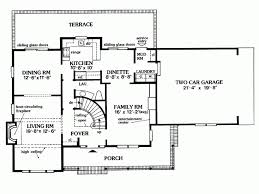 Colonial Floor Plans Eplans Farmhouse House Plan Center Hall Colonial 2030 Square