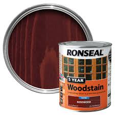 ronseal rosewood high satin sheen woodstain 0 75l departments