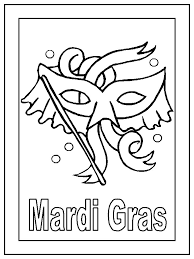 printable mardi gras coloring pages free