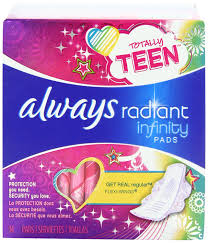 Ultra Fin Radiant by Amazon Com Always Totally Teen Always Radiant Infinity Pads 14