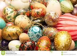 custom easter eggs colored custom easter eggs stock photo image 19538250