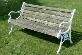 wood and metal benches for garden bench decoration