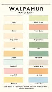 walpamur colour card from 1950 uk colours pinterest colour