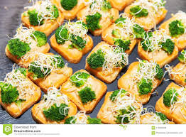 healthy canapes dinner vegetarian canape with broccoli stock photo image of dinner