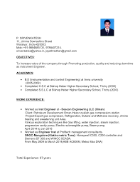 Instrumentation Project Engineer Resume Resume Srivenkatesh Instrument Engineer