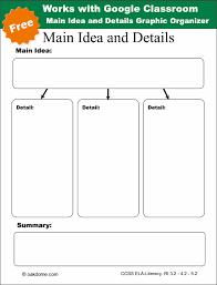 google classroom main idea and details graphic organizer k 5