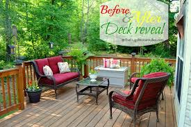Decorating Decks And Patios Before After Deck Reveal Sprucing Up The Outdoors For Spring Series