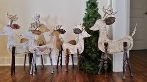 recycled wood reindeer large repurposed christmas sculptures