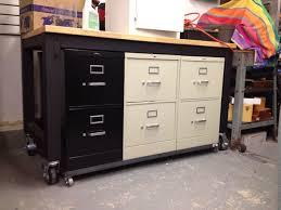 Diy File Cabinet Desk by Filing Cabinet Diy Desk With File Cabinets Office Desk With