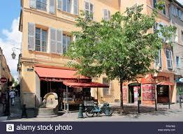 aix en provence geography travel france aix en provence rue boulegon stock