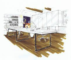 How To Draw A Interior Design Plan Michelle Morelan U0027s Hybrid Drawings For Interior Design Sketchup Blog