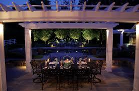 pergola design amazing white outdoor patio lights exterior yard