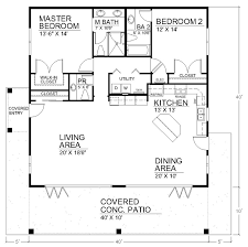How Big Is 1100 Square Feet I Like The Open Floor Plan But It Would Need Another Bedroom And A