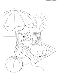 summer coloring sheets free water pages fun print printable