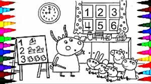 peppa pig coloring book pages kids fun art activities for children