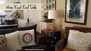 thrift store upcycle wine rack end table live from julie u0027s house