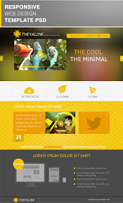 theyalow responsive web design template psd download download psd