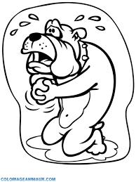🎨Coloriage chien qui pleure à imprimer