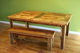 Rustic Wooden Bench Gus Modern Plank Dining Table Bench Dining Tables Mash Studios