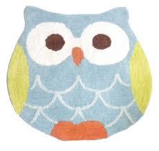 Retro Bathroom Rugs Amazon Com Hooty Owl Bath Rug Home U0026 Kitchen