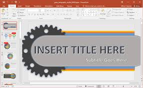 custom design layout powerpoint gears infographic powerpoint template