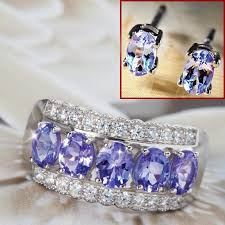 tanzanite stud earrings karatu ring tanzanite stud earrings 27584 stauer