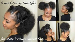 natural hair after five styles 5 quick easy hairstyles for short medium natural hair