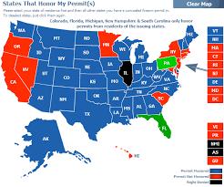 pa carry permit reciprocity map reciprocity states florida gun pros