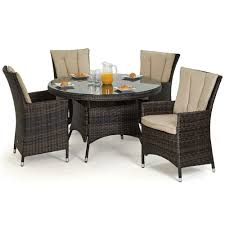 Patio Furniture Sets Uk - maze rattan la 4 seat round rattan garden furniture set internet