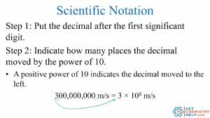 working with scientific notation chemistry lesson scientific notation get chemistry help