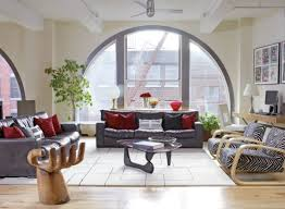 Living Room Furniture New York City Modern Loft Living Room In New York City With U Shape Sofa Chairs