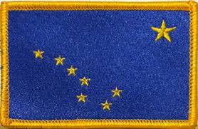 State Flag Velcro Patches Alaska State Flag Patch With Velcro Brand Fastener Tactical Gold