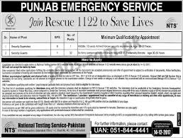 journalists jobs in pakistan airport security rescue 1122 jobs 2018 for 33 security guards and supervisor posts
