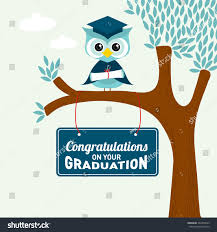 congratulations on your graduation greeting card stock vector
