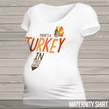 personalized maternity thanksgiving shirt turkey in oven to