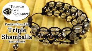 make a triple shamballa bracelet youtube