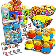 Paw Patrol Party Decorations Set Cupcake Stand Snack Bowls