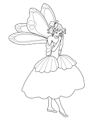 free fairy coloring page coloring home