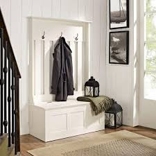 Entry Hall Furniture by Crosley Ogden Mahogany Hall Tree Cf6001 Ma The Home Depot