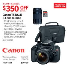canon rebel t5 black friday costco deal canon t5 dslr 2 lens bundle 350 off