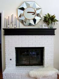 fireplace with painted black mantel choosing a fireplace mantel