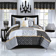 Polka Dot Bed Sets by Home Decor Black White And Yellow Polka Dot Bedding Teen Dorm